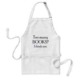 too many books standard apron