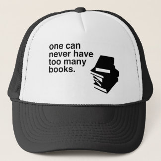 too many books trucker hat