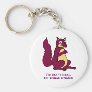 Too many freaks, not enough circuses basic round button keychain