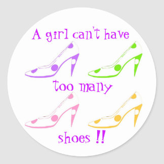 Too Many Shoes Girly Fashionista sticker