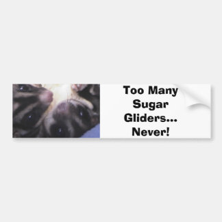Too Many Sugar Gliders... Bumper Sticker