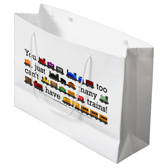 Too Many Trains! Large Gift Bag