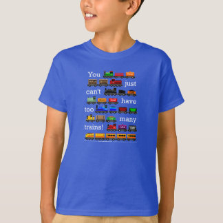 Too Many Trains on Dark Color T-Shirt