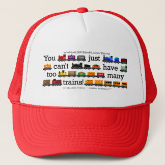 Too Many Trains Trucker Hat