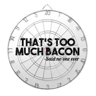 Too Much Bacon Dartboard