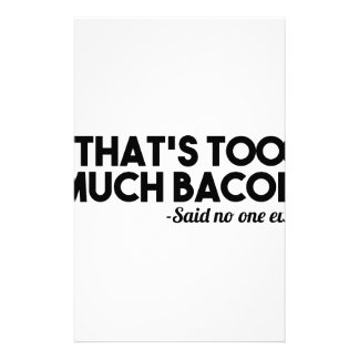 Too Much Bacon Stationery Design