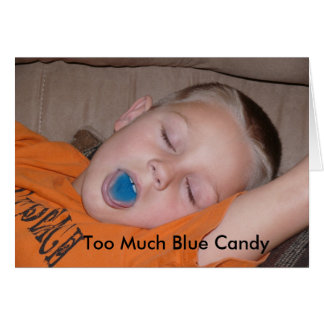 Too Much Blue Candy Greeting Card