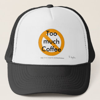 Too much coffee hat designed by B. Keyler