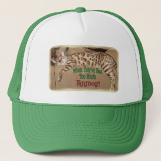 TOO MUCH EGGNOG! TRUCKER HAT