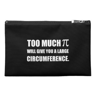Too Much Pi Symbol Circumference Travel Accessory Bag