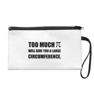 Too Much Pi Symbol Circumference Wristlet Clutches