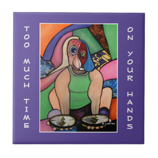 Too Much Time On Your Hands  Purple - Time Pieces Tile