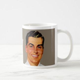 too pretty to work guy - tan classic white coffee mug