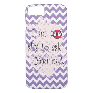 Too shy to ask you out White Purple Chevron iPhone 7 Case