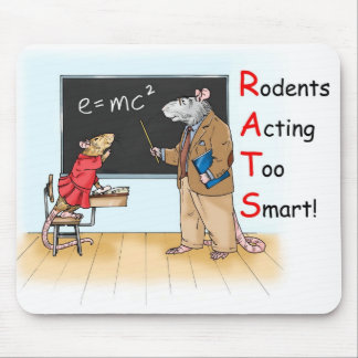 """Too Smart"" Rat Mousepad"