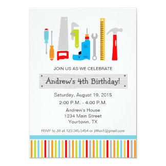 Tool Birthday Party Invitation