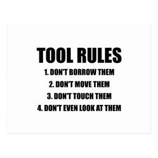 Tool Rules Postcard