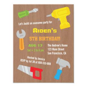 Tools birthday invitations announcements zazzle ca tool workshop boys birthday party invitations filmwisefo