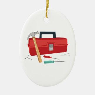 Toolbox And Tools Ceramic Ornament