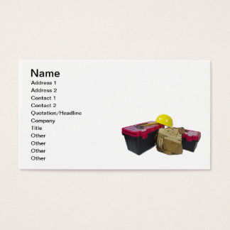 Toolboxes Tool Belt Hard Hat Business Card