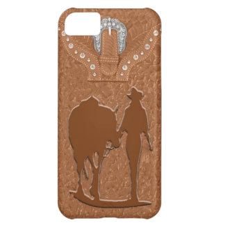 """Tooled Leather Cowgirl"" Western IPhone 5 Case"