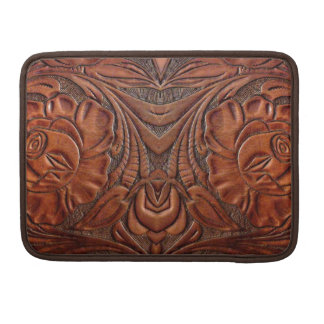 Tooled Leather Design MacBook Pro 13 Sleeve