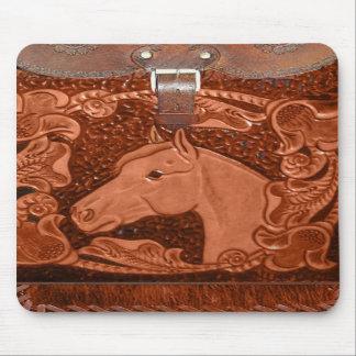 "Tooled Leather ""Horse"" Western Mousepad"