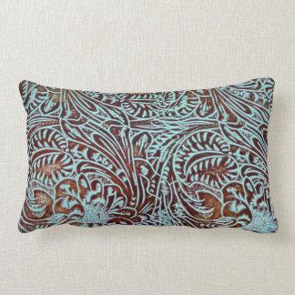 Toolin in Teal (Brown Back) Lumbar Pillow
