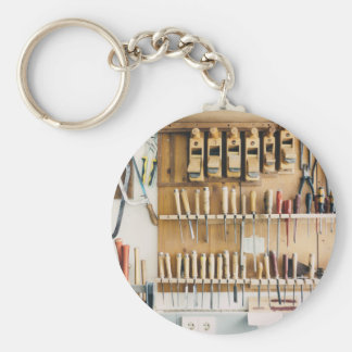 Tools DIY enthusiast Dad Fathers Day Basic Round Button Keychain