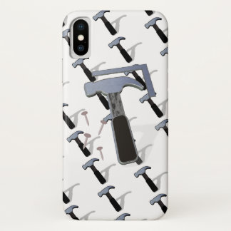 Tools Hammer and Nails iPhone X Case