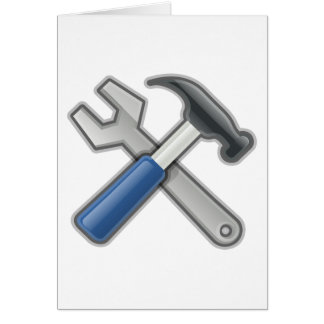 Tools, Hammer and Wrench Card