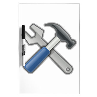 Tools, Hammer and Wrench Dry Erase Board