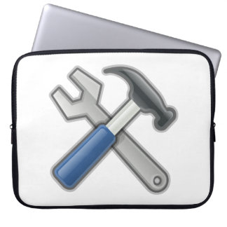 Tools, Hammer and Wrench Laptop Sleeve