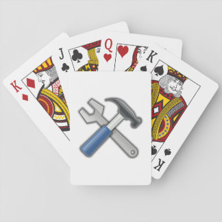 Tools, Hammer and Wrench Playing Cards