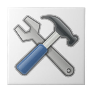 Tools, Hammer and Wrench Tile