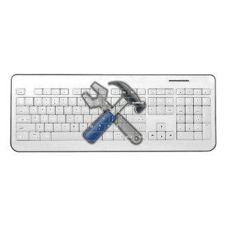 Tools, Hammer and Wrench Wireless Keyboard