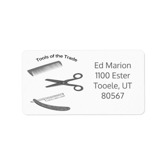 Tools of the Trade Barber Business Label