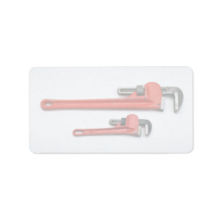 Tools of Trade- Two monkey wrenches Custom Address Labels