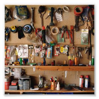 Tools on Workshop Wall Photo Art