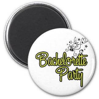 ToonDoveBachelorettePartyYlw 2 Inch Round Magnet