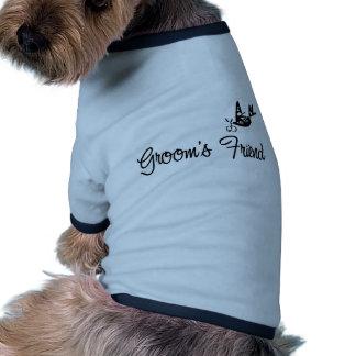 ToonDoveGroomsFriendblk Doggie Tee
