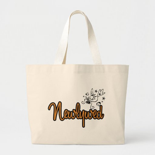 ToonDoveNewlywedOrange Tote Bags