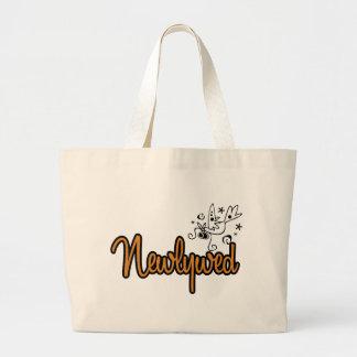 ToonDoveNewlywedOrange Jumbo Tote Bag