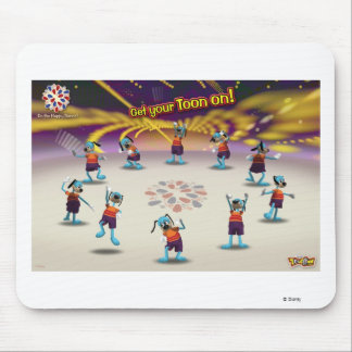 """Toontown """"Get Your Toon On!"""" Poster Disney Mouse Pad"""