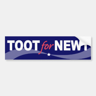 TOOT For NEWT Gingrich 2012 Bumper Sticker