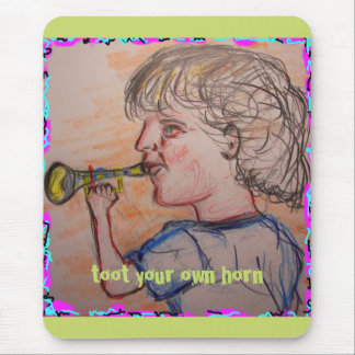 Toot Horn Mouse Pad