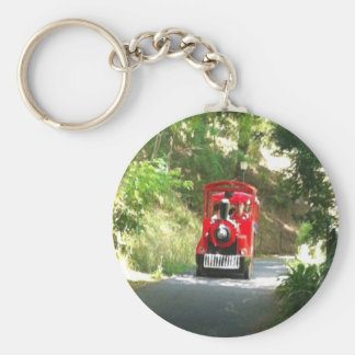 Toot Toot the Red train is coming Toot Toot Basic Round Button Keychain
