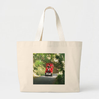 Toot Toot the Red train is coming Toot Toot Large Tote Bag