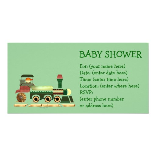 Toot Toot Train 2 Baby Shower Picture Card