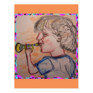 toot your own horn postcard
